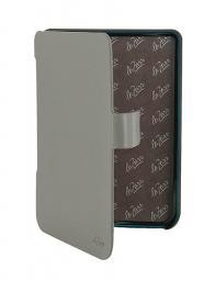 Чехол LaZarr Poсket Case для PocketBook Touch 622/623 эко кожа, серый с синим