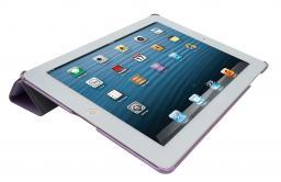 Чехол LaZarr iSmart Case для Apple iPad 4/New iPad, эко кожа,фиолетовый