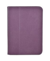 """Чехол для планшета Samsung GT3 10.1"""" Jet.A SC10-26 из натуральной кожи Фиолетовый/Серый интерьер"""