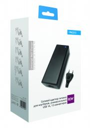 Сетевой адаптер Deppa для ноутбуков универсальный (12 коннекторов), 90 Вт