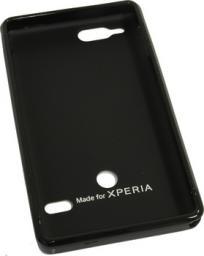 Чехол Muvit for Xperia Minigel для Sony Xperia S пластик черный