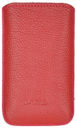 Чехол кожаный Prime Classic универсальный, M, флотер красный