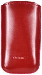 Чехол кожаный Prime Classic универсальный, S, красный лак