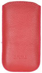 Чехол кожаный Prime Classic универсальный, S, флотер красный