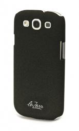 Защитная крышка LaZarr Soft Touch для Samsung Galaxy S3 i9300, пластик, черный