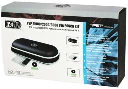 Набор с защитным чехлом 3 в 1 Black Horns PSP 2000/3000 (п/у чехол, пленка, накл.дж.)