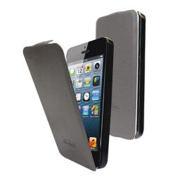 Чехол LaZarr Flip Case для Apple iPhone 5, кожа, серый