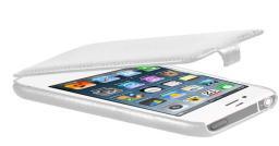 Чехол LaZarr Protective Case для Apple iPhone 4/4S, эко кожа, белый