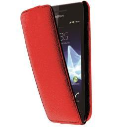 Чехол LaZarr Protective Case для Sony Xperia Tipo (ST21i), эко кожа, красный
