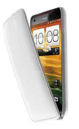 Чехол LaZarr Protective Case для HTC Butterfly X920d, эко кожа, белый