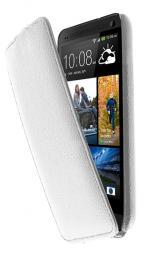 Чехол LaZarr Protective Case для HTC One, эко кожа, белый