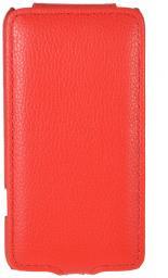 Чехол LaZarr Protective Case для Samsung Galaxy S Advance i9070, эко кожа, красный