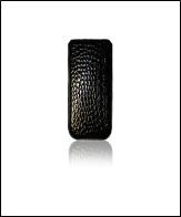 Футляр Cason для Galaxy SIII mini Elite с внешней лентой ,черный кайман
