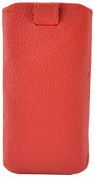 Чехол кожаный Prime Classic для HTC One mini, флотер красный