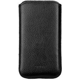 Чехол кожаный Prime Classic для Samsung Galaxy S4 mini, флотер черный