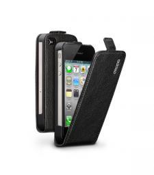 Чехол Deppa Flip Cover и защитная пленка для Apple iPhone 4/4S, магнит, черный