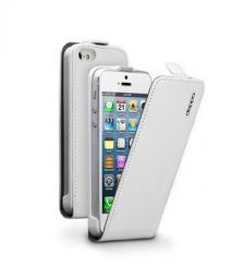 Чехол Deppa Flip Cover и защитная пленка для Apple iPhone 5/5S, магнит, белый