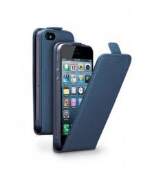 Чехол Deppa Flip Cover и защитная пленка для Apple iPhone 5/5S, магнит, синий