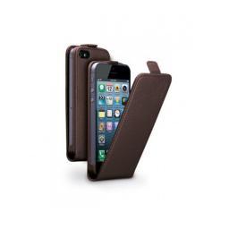 Чехол Deppa Flip Cover и защитная пленка для Apple iPhone 5/5S, магнит, коричневый