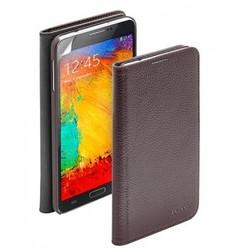 Чехол Deppa Wallet Cover и защитная пленка для Samsung Galaxy Note3, коричневый
