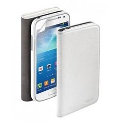 Чехол Deppa Wallet Cover и защитная пленка для Samsung Galaxy S4 mini, магнит, белый