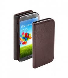 Чехол Deppa Wallet Cover и защитная пленка для Samsung Galaxy S4, магнит, коричневый