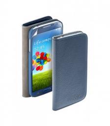 Чехол Deppa Wallet Cover и защитная пленка для Samsung Galaxy S4, магнит, синий