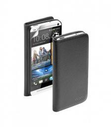 Чехол Deppa Wallet Cover и защитная пленка для HTC One, магнит, черный