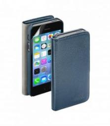 Чехол Deppa Wallet Cover и защитная пленка для Apple iPhone 5/5S, магнит, синий