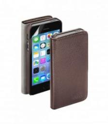 Чехол Deppa Wallet Cover и защитная пленка для Apple iPhone 5/5S, магнит, коричневый