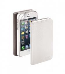 Чехол Deppa Wallet Cover и защитная пленка для Apple iPhone 5/5S, магнит, белый