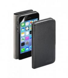 Чехол Deppa Wallet Cover и защитная пленка для Apple iPhone 5/5S, магнит, черный