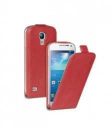 Чехол Deppa Flip Cover и защитная пленка для Samsung Galaxy S4 mini, магнит, красный