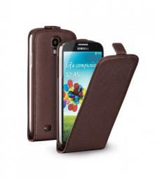 Чехол Deppa Flip Cover и защитная пленка для Samsung Galaxy S4, магнит, коричневый