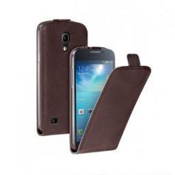 Чехол Deppa Flip Cover и защитная пленка для Samsung Galaxy S4 mini, магнит, коричневый