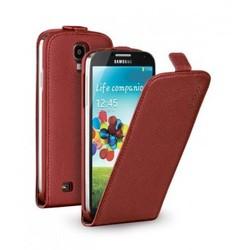 Чехол Deppa Flip Cover и защитная пленка для Samsung Galaxy S4, магнит, красный