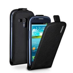Чехол Deppa Flip Cover и защитная пленка для Samsung Galaxy S4, магнит, черный