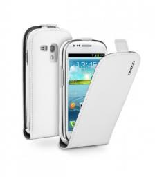 Чехол Deppa Flip Cover и защитная пленка для Samsung Galaxy SIII mini, магнит, белый