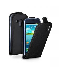 Чехол Deppa Flip Cover и защитная пленка для Samsung Galaxy SIII mini, магнит, черный