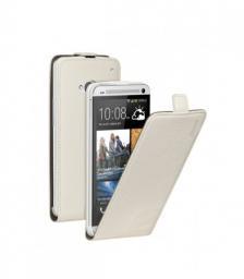 Чехол Deppa Flip Cover и защитная пленка для HTC One, магнит, белый