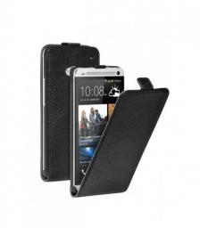 Чехол Deppa Flip Cover и защитная пленка для HTC One, магнит, черный