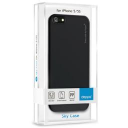 Чехол Deppa Sky Case и защитная пленка для Apple iPhone 5/5S, 0.3 мм, черный
