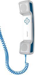 Гарнитура Swissvoice CH05 с силиконовой подставкой, проводная, белый/синий