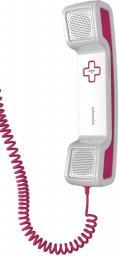 Гарнитура Swissvoice CH05 с силиконовой подставкой, проводная, белый/розовый