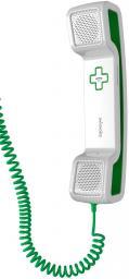 Гарнитура Swissvoice CH05 с силиконовой подставкой, проводная, белый/зеленый
