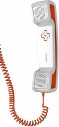 Гарнитура Swissvoice CH05 с силиконовой подставкой, проводная, белый/оранжевый