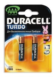 Батарея Duracell LR03-2BL Turbo (20/60/10800)