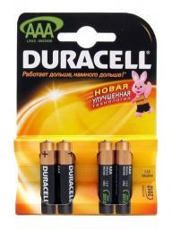 Батарея Duracell LR03-4BL Basic (40/120/21120)