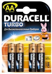 Батарея Duracell LR6-4BL Turbo (80/240/20400)
