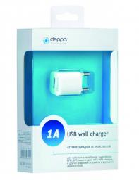 СЗУ Deppa USB Ultra компакт 1А, Белое